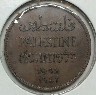 Palestine - 2 mils 1942 - Choice brown About Uncirculated