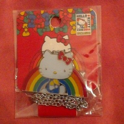 New Hello Kitty Con 2014 Exclusive Rainbow Necklace (40th Anniversary)