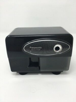 Electric Pencil Sharpener Auto-Stop Panasonic KP-310 Black With Suction Cup Feet