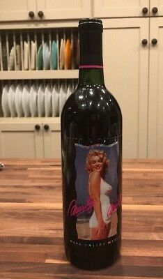 1992 Marilyn Merlot Monroe Napa Valley Wine Bottle & Label  Excellent Condition