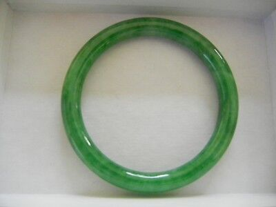 100 Pure Natural Chinese Jade Hand-carved Bracelet Bangle-Rare Beautiful Green