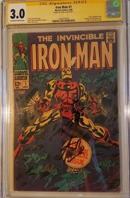 Iron Man 1 - 3.0 CGC SS Stan Lee First Solo Issue