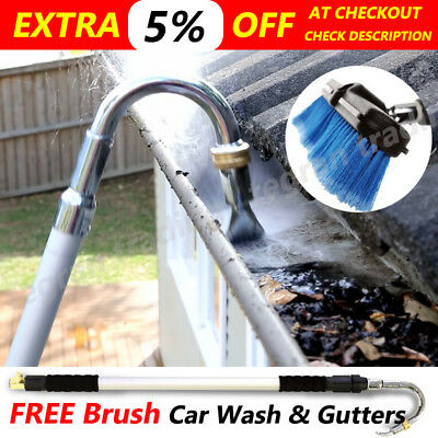 Telescopic Gutter Cleaner Wand Flushes Multi Purpose Car Washer Cleaning Tool