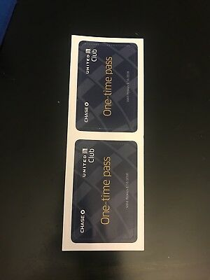 Two (2) United Airlines Club Lounge One-Time Pass Expires 01/31/2018