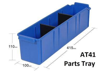 AT41 Pack of 24 VISIPLAS Parts Trays 415x100x110mm incl. 2 Dividers