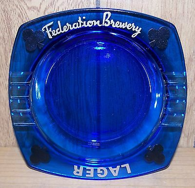 Federation Brewery ~ Lager ~ Cobalt Blue ~ Vintage ~ Square ~ Northern Clubs(?)