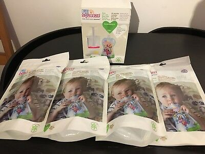 Fill N Squeeze starter pack plus 40 additional pouches