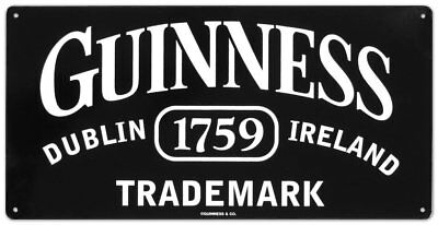 Guinness Beer Black Trademark Logo Dublin Ireland Pub Wall Decor Metal Tin Sign