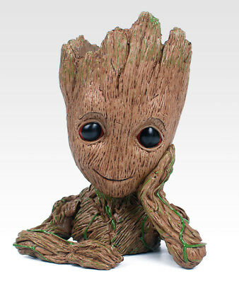 Guardians of The Galaxy Vol. 2 Baby Groot Figure Flowerpot Pen Pot Toy Best Gift