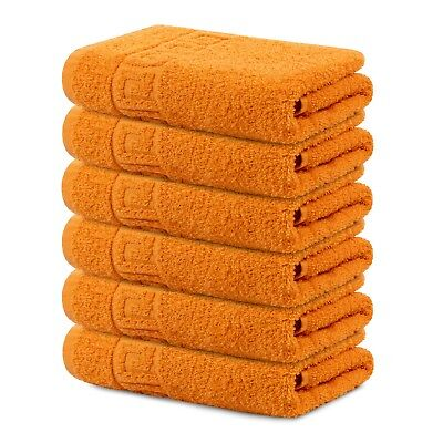 Hand Towel Large 16* 28 Inch Cotton Absorbent 6pc Pack By Context Towel for Gym