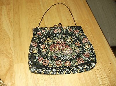 Antique Petit Point Purse from France