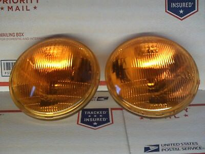 Vintage amber yellow car headlights ★NEW★5 3/4 MAZDA RX2 RX3 RX4 1973 to 1976