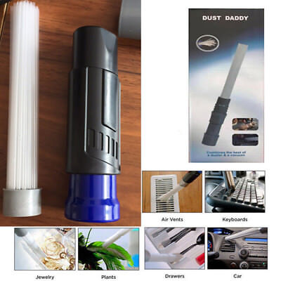 Dust Daddy Brush Cleaner Dirt Remover Universal Vacuum Attachment New