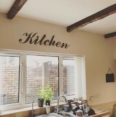 Rusty KITCHEN Lettering Letters Sign Metal Home bar Pub CAFE RESTURANT