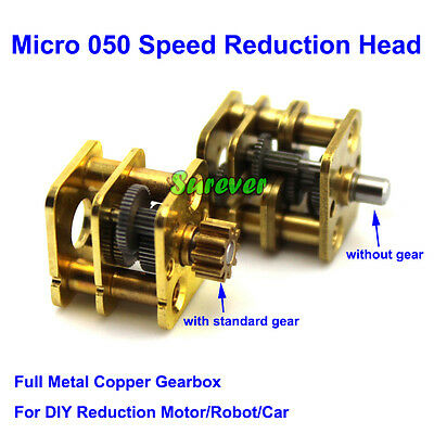 Micro Full Metal Gearbox Reducer Copper Gear Reduction Head DIY 050 Motor Robot