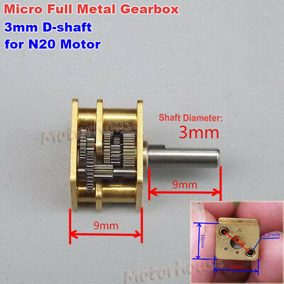 Micro Full Metal Gearbox Reducer Copper Gear Reduction Head DIY N20 Gear Motor