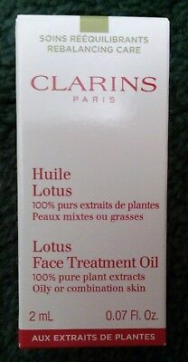 Clarins Lotus Face Treatment Oil - 2ml - new/boxed - oily/comb skin