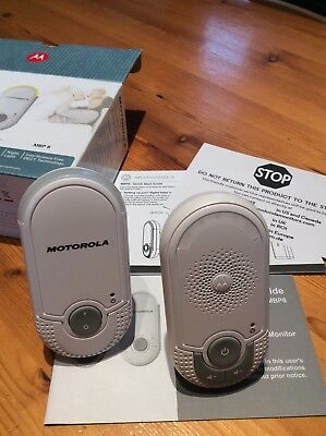 Motorola Digital Audio Baby Monitor MBP8 Excellent cond with box and instruction