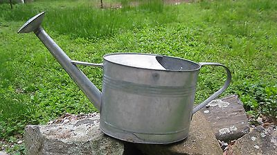 Vintage Large Galvanized Watering Can/Planter-One Handle