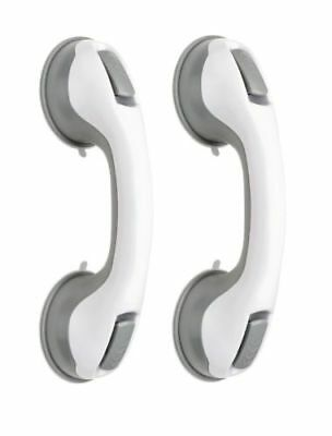 2 X Bathroom Grip Safety Suction Cup Shower Tub Grab Bar Handle Support Rail