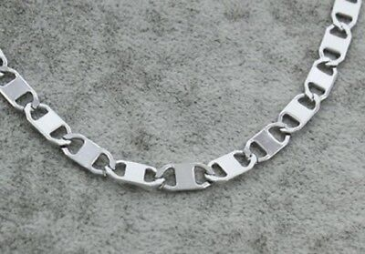 55cm Stainless Steel 316L Necklace Silver Mariner Link Chain Replacement N74