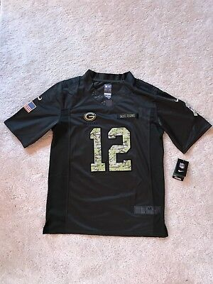 NFL Jersey Green Bay Packers GR. M #12 Aaron Rodgers/ Salute To Service