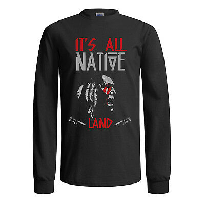 Native American Long Sleeve T-Shirt Top Indigenous People Tribe Tribal