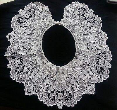 ANTIQUE Stunning Vintage VICTORIAN, EDWARDIAN Floral White Lace Collar