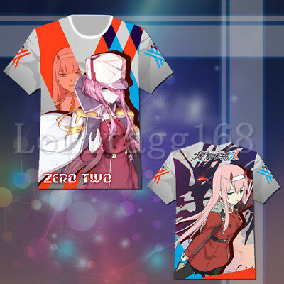 Darling in the FranXX Zero Two T shirt Tee Top Cosplay Costume Summer Casual