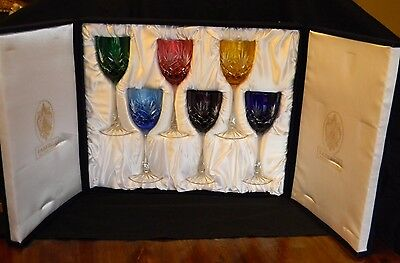 "Faberge ""odessa"" Wine Glass 8.75"" Collector's Set-Signed - Collectible!"