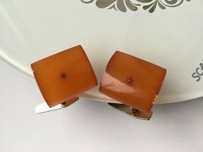 ANTIQUE Old Genuine Baltic Amber cufflinks Natural Vintage 9 gr