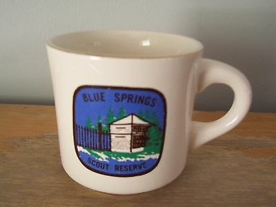 Vintage Gold Rimmed Blue Springs, Ontario Boy Scout Reserve Coffee Mug