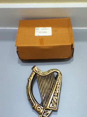CELTIC BRASSWARE The HARP Door Knocker Super Heavy SOLID BRASS