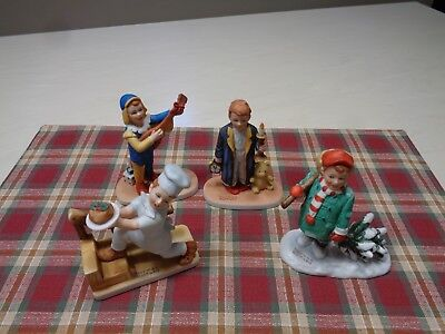 Norman Rockwell Figurines    Royal Manor      Lot of 4