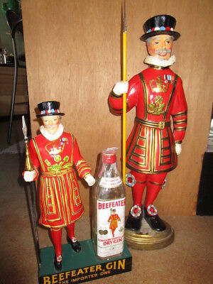 Beefeater Gin 2' back bar statue and bottle display.  Both!!!