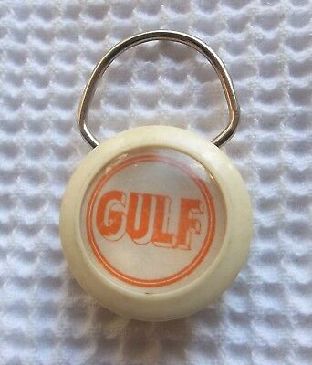 Vintage Gulf Oil Gas Station  Key Ring