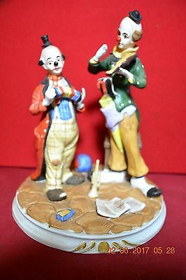 Hand Painted Crown Royal Clowns  Street Musicians Figurines