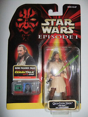 Star Wars Qui Gon Jin (Jedi Duell)with Lightsaber Episode 1
