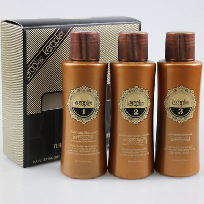 HAIR TREATMENT BRAZILIAN KERATIN  BLOW DRY STRAIGHTENING 3x 110ML KIT