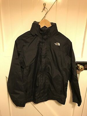 Boys North Face Black Resolve Rain Jacket Size large