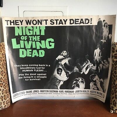 Original 1968 Night Of The Living Dead Horror Movie Poster