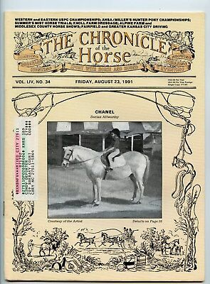 Chronicle Of The Horse 8/23/91 Chanel