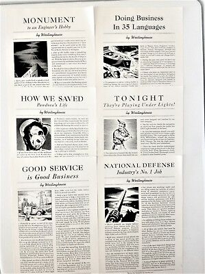 """Various """"by Westinghouse"""" 1940 Ads National Defense 1st Radio Station Save Panda"""