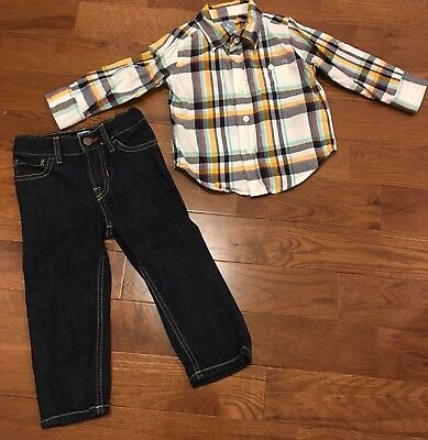 Boys 18-24m Jeans And long sleeve shirt great condition Baby Gap