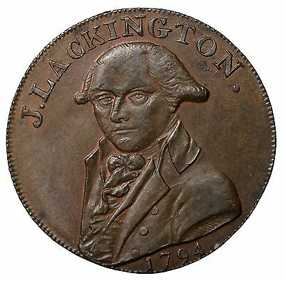 1794 Middlesex Lackington's Cheapest Bookseller Halfpenny Conder Token D&H-351