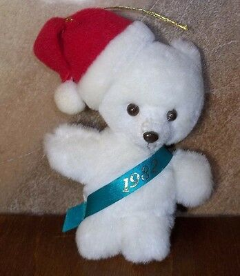 Avon Baby's 1982 Keepsake Ornament With Original Box Plush Teddy Never Used