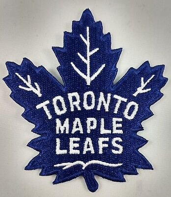 Toronto Maple Leafs NHL Hockey Patch Embroidered Iron On Applique Crest Badge