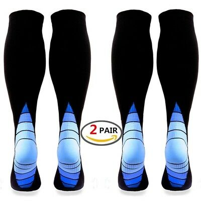 Compression Socks for Men Women,(2 pair)Better Blood Circulation, Prevent Bl