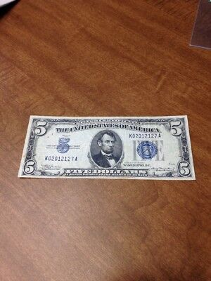 Five Dollar Bill. Federal Reserve Currency Note 1934 A