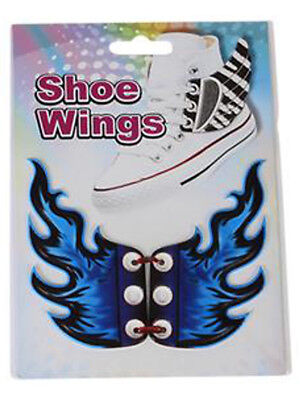 New Blue Flame Shoe Wings Sneaker Laces Costume Accessory